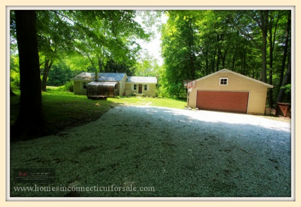 This single family home for sale in New Milford CT has insulated windows that will keep you warm during the cold winter.