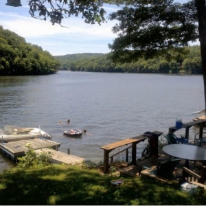 Dramatic Direct Lake Zoar Front Home