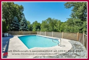 This home for sale in New Milford CT promises a lifestyle fit for royalty with its wonderful swimming pool, Zen landscape and lovely interior.