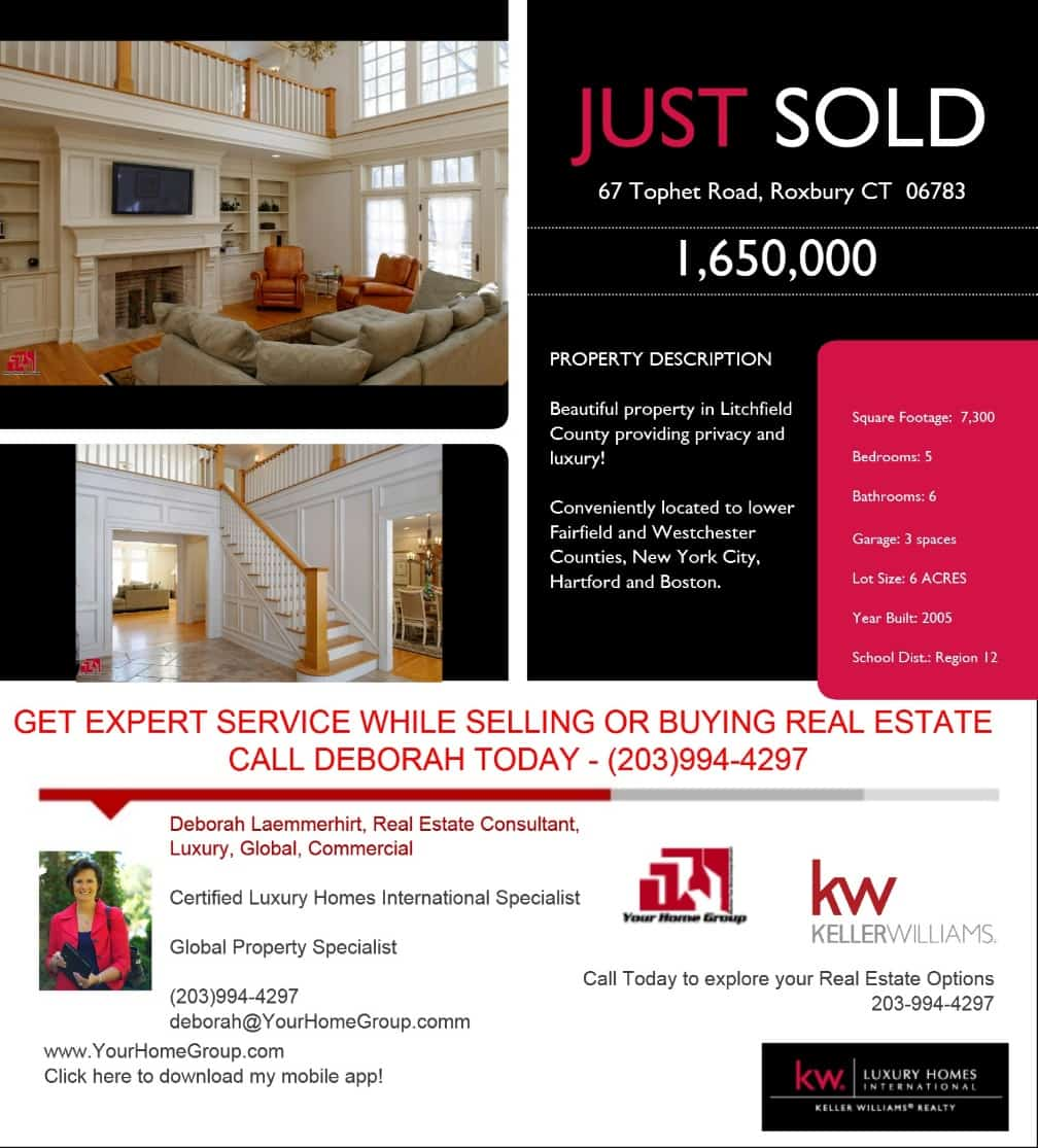 CT Home Just Sold Listing