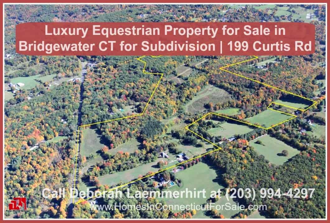 This beautiful Litchfield Hills equestrian property for sale in Bridgewater CT has boundless possibilities - from creating a luxurious subdivision in the expansive land, to building a high rise condominium.