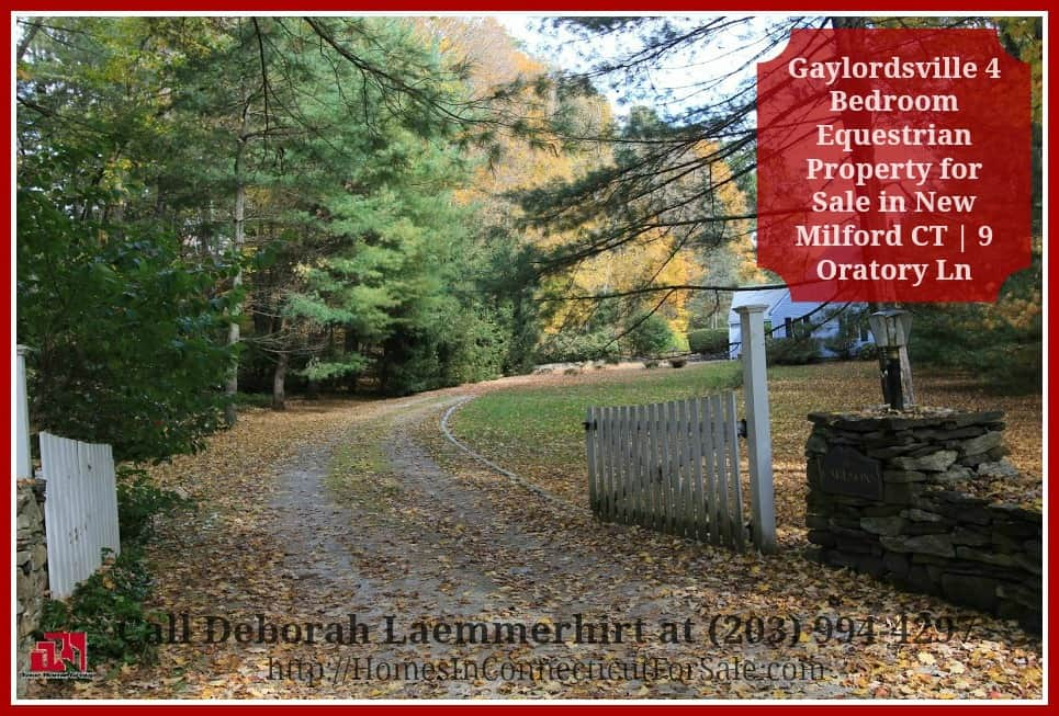 A picturesque pathway will welcome you to this enthralling equestrian property for sale in New Milford CT.